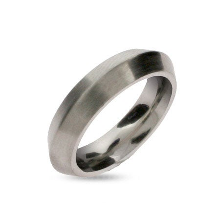 Dome Shaped Stainless Steel Wedding Band | Eve's Addiction®