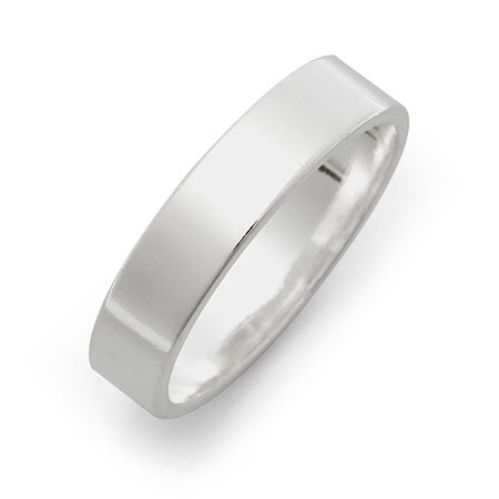 5mm Sterling Silver Flat Wedding Band | Eve's Addiction®