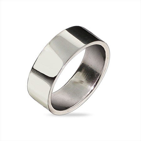 6mm Sterling Silver Flat Wedding Band | Eve's Addiction®