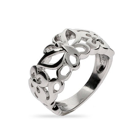 Butterfly and Flower Ring | Eve's Addiction®