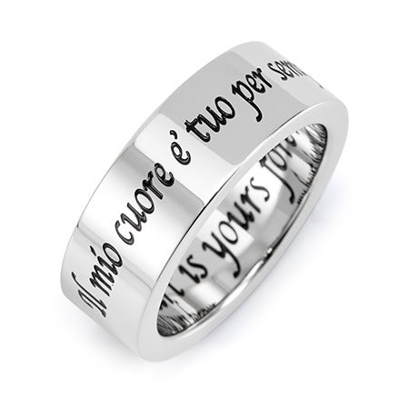 My Heart Is Yours Forever Stainless Steel Poesy Ring | Eve's Addiction®