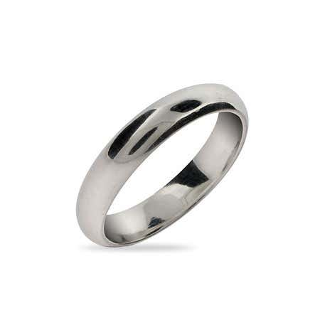 Classic 4mm Sterling Silver Wedding Band | Eve's Addiction®