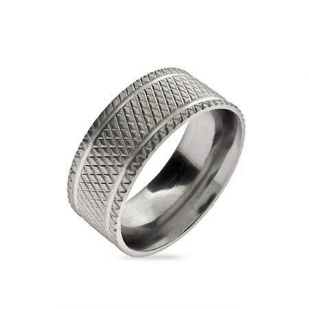 Diamond Cut Men's Stainless Steel Band | Eve's Addiction®