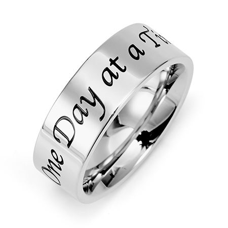 One Day At A Time Message Ring | Eve's Addiction
