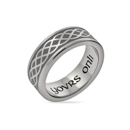 Celtic Weave Yovrs Onli Stainless Steel Wedding Band | Eve's Addiction®