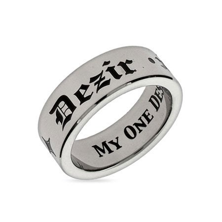 My One Desire Stainless Steel Poesy Ring | Eve's Addiction®