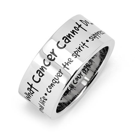 What Cancer Cannot Do Stainless Steel Ring | Eve's Addiction®