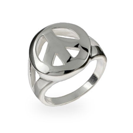 Sterling Silver Peace Sign Ring | Eve's Addiction®
