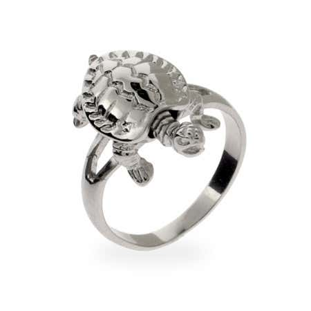 Sterling Silver Turtle Ring | Eve's Addiction®