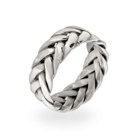 Sterling Silver Woven Band | Eve's Addiction