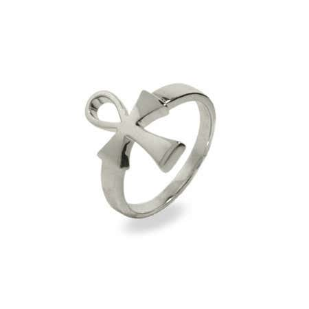 Sterling Silver Ankh Ring | Eve's Addiction®