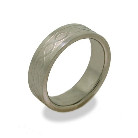 Men's Braided Design Titanium Ring | Eve's Addiction