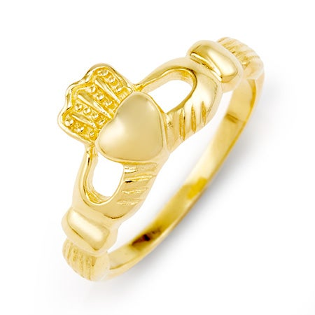 Gold Vermeil Sterling Silver Claddagh Ring | Eve's Addiction®