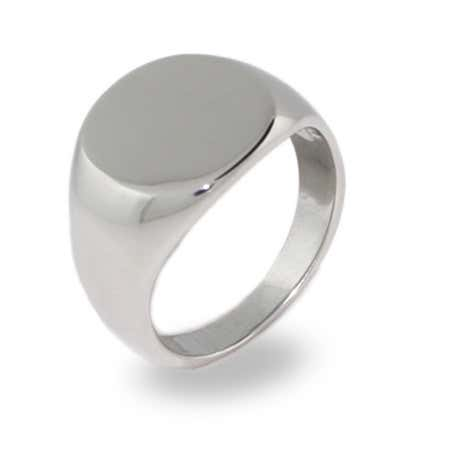 Signet ring history with simple engravable sterling silver ring with signet