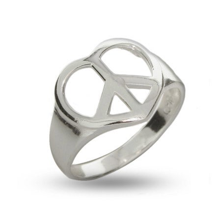 Sterling Silver Peaceful Heart Ring | Eve's Addiction®