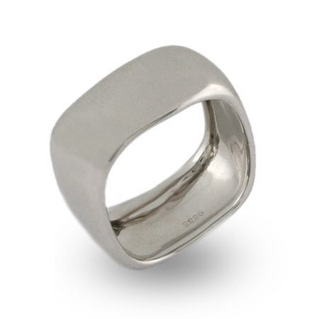 Sterling Silver Wide Cushion Band   Eve's Addiction®
