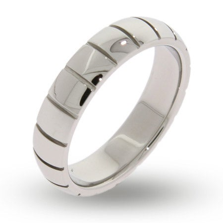 Womens Engravable Ribbed Message Band | Eve's Addiction®