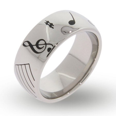 Musical Notes Engraved Message Band | Eve's Addiction®