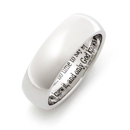 Engravable Stainless Steel Bereavement Prayer Ring   Eve's Addiction®