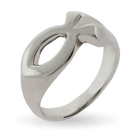 Ichthys Jesus Fish Ring in Sterling Silver | Eve's Addiction®