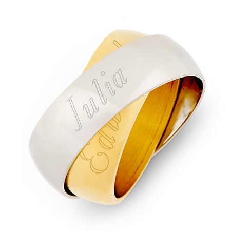 Two Color Double Message Rings Set | Eve's Addiction®