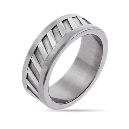 Men's Engravable Stainless Steel Intrepid Ring | Eve's Addiction®