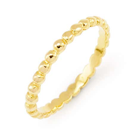 Gold Vermeil Beaded Stackable Ring