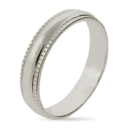 Sterling Silver Milgrain Edge Stackable Ring