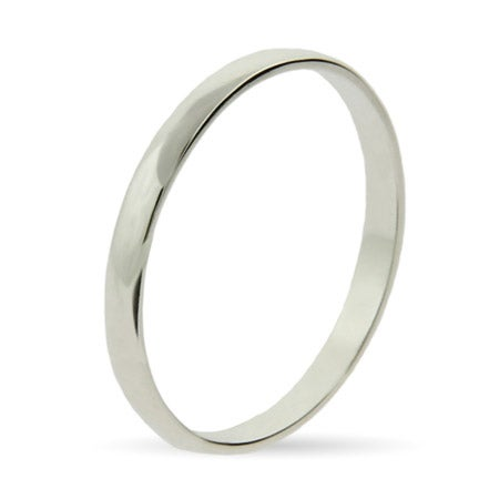 Plain Thin Silver Stackable Band | Eve's Addiction®