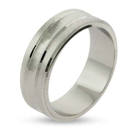 Engravable Sterling Silver Wedding Band