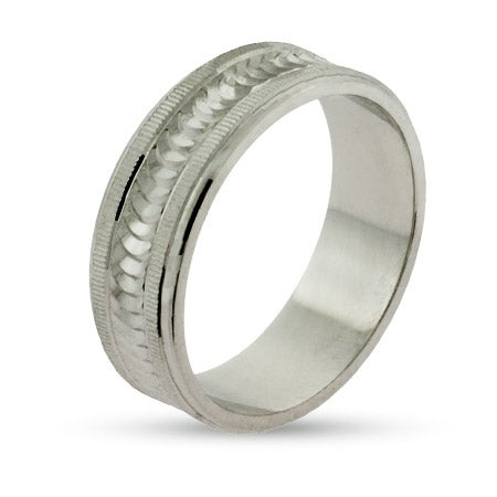 Eternity by Eve Modern Style Sterling Silver Wedding Ring | Eve's Addiction®