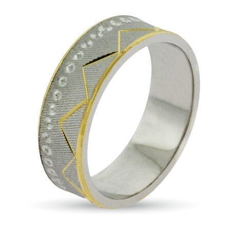 Golden Everest Silver Wedding Band | Eve's Addiction®