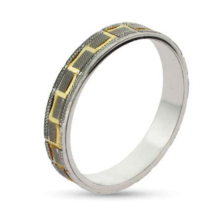 Eternity By Eve Grecian Sterling Silver Wedding Band | Eve's Addiction®
