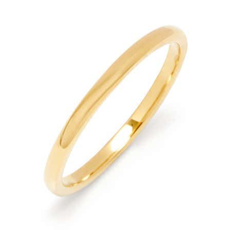 2mm Thin Gold Tungsten Wedding Band | Eve's Addiction®
