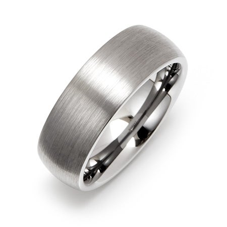 Men's 8MM Brushed Engravable Tungsten Band | Eve's Addiction®