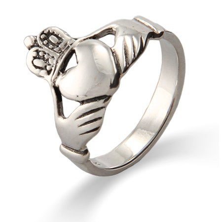 Sterling Silver Irish Claddagh Wedding Ring | Eve's Addiction®