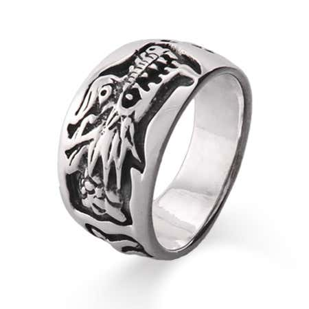 Sterling Silver Chinese Dragon Ring | Eve's Addiction®