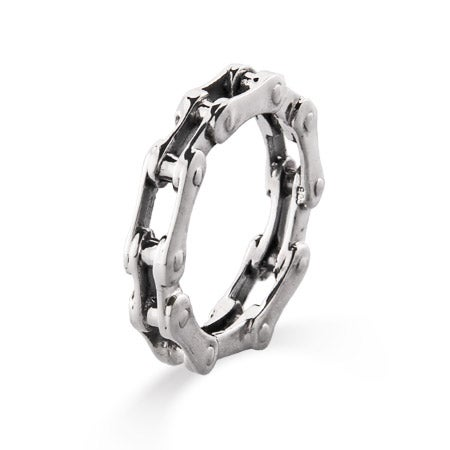 Men's Sterling Silver Bike Chain Ring   Eve's Addiction®