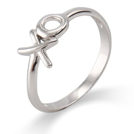 XO Hugs and Kisses Ring in Sterling Silver | Eve's Addiction®