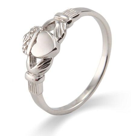 Petite Sterling Silver Irish Claddagh Ring   Eve's Addiction®