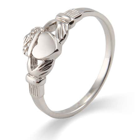 Petite Sterling Silver Irish Claddagh Ring
