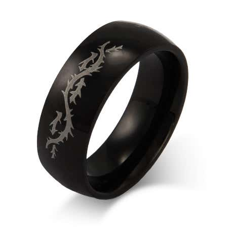 Men's Stainless Steel Engravable Dragon's Tail Ring