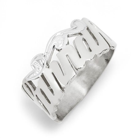 Sterling Silver Custom Script Name Ring | Eve's Addiction®