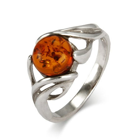 Mystical Sterling Silver Baltic Amber Ring | Eve's Addiction®