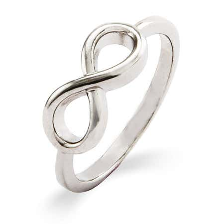 Sterling Silver Simple Infinity Ring