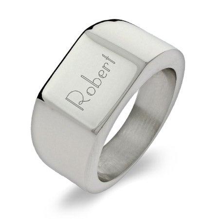 Square Cut Graduation Class Ring for Men   Eve's Addiction®