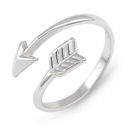 Arrow Midi Sterling Silver Ring