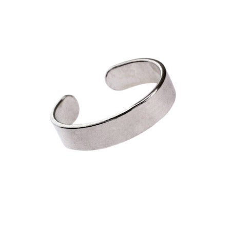 Flat Band Midi Ring in Sterling Silver | Eve's Addiction