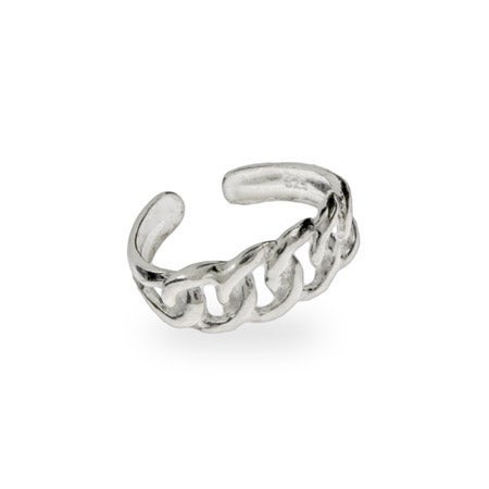 Chain Link Midi Ring in Sterling Silver | Eve's Addiction