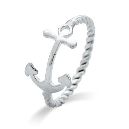 Sideways Anchor Sterling Silver Ring | Eve's Addiction®